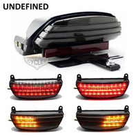 Motorcycle Accessories Smoke Tri Bar Fender LED Turn Signal Tail Light Bracket For 2006 2015 2016 Harley Softail FXST UNDEFINED