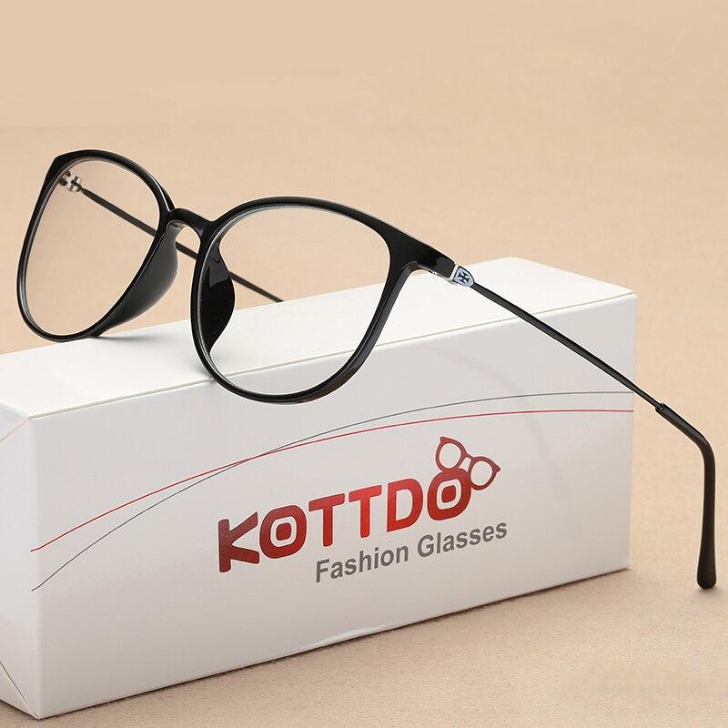 KOTTDO Männer Frauen Mode Runde Kunststoff Brillen Rahmen Brille ...