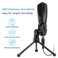 Microphone USB Studio Condenser Recording Microphone For YouTube Games with Microphones Stand Microfone Mikrofon For Laptop Mic