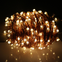 חוטי נחושת שמש מחרוזת אורות פיית 30 M 300LED Lampara 8 מצבים פנל סולארי באיכות פרימיום עבור Chrismas קישוט הגן