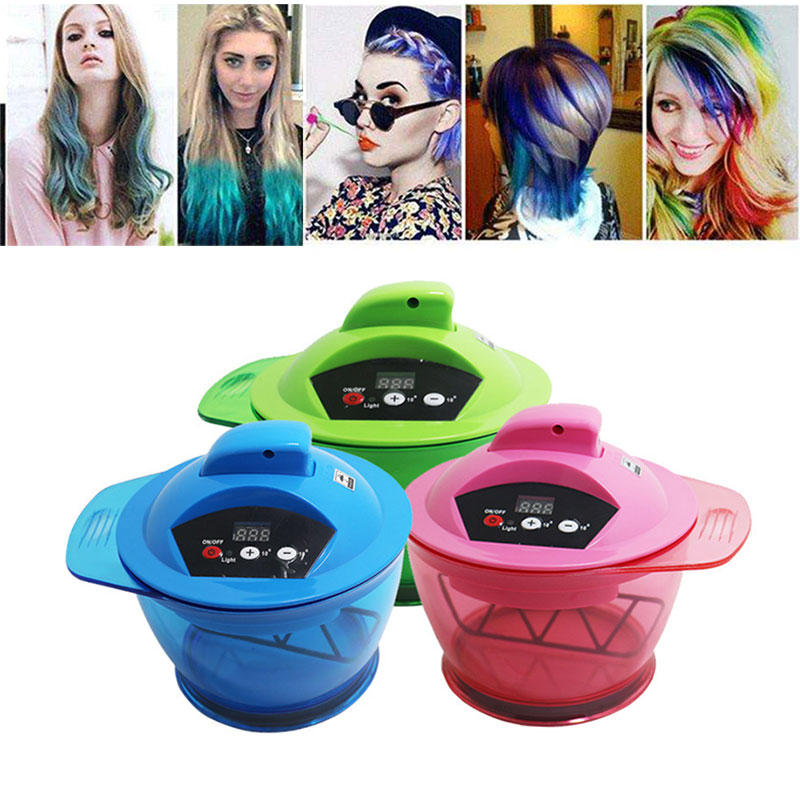 Hot Sale Electric USB Hair Coloring Bowl Automatic Hair Cream Mixer Shaker For Hair Salon Color Dyeing Tool Hair Art SK88