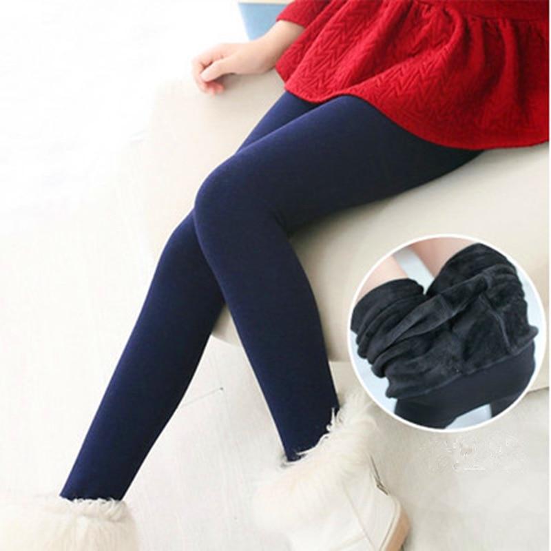Escovado 1 pcs Quentes Engrossar Collants Meninas Para O Outono Inverno Crianças Roupas de Bebê Meninas Meias 3 Tamanho Sólidos Crianças Meia-calça