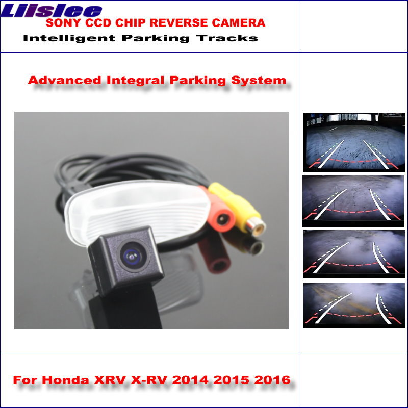 Liislee Rear Camera For Honda XRV X RV 2014 2016 Intelligent Parking Tracks Reverse 580 TV Lines Dynamic Guidance Tragectory in Vehicle Camera from Automobiles Motorcycles