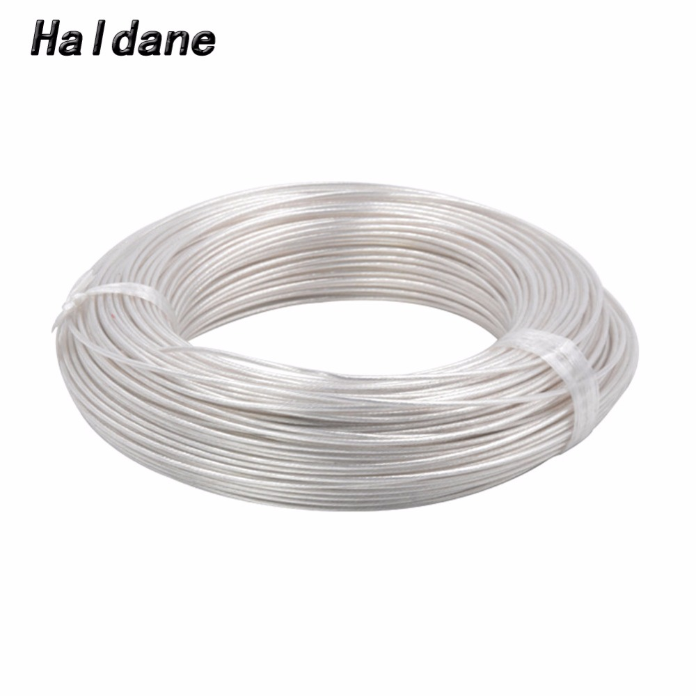 Free Shipping Haldane 100Meter 0 12mm 0 12square Silver Plated 7N OCC Signal Tefl Wire Cable