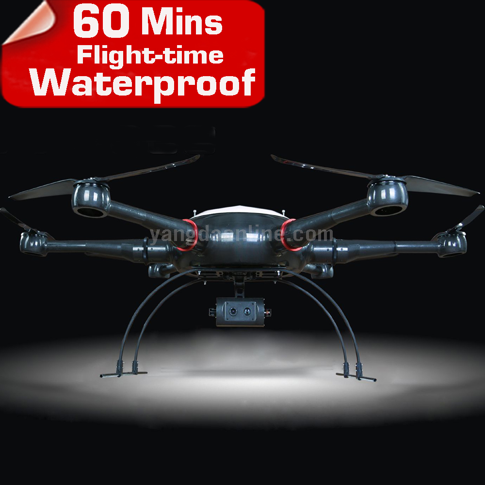 Cadre de Drone YD6 1600 P étanche Long temps de vol aéronef sans pilote (UAV) cadre Hexacopter pour Drone de caméra industrielle professionnelle