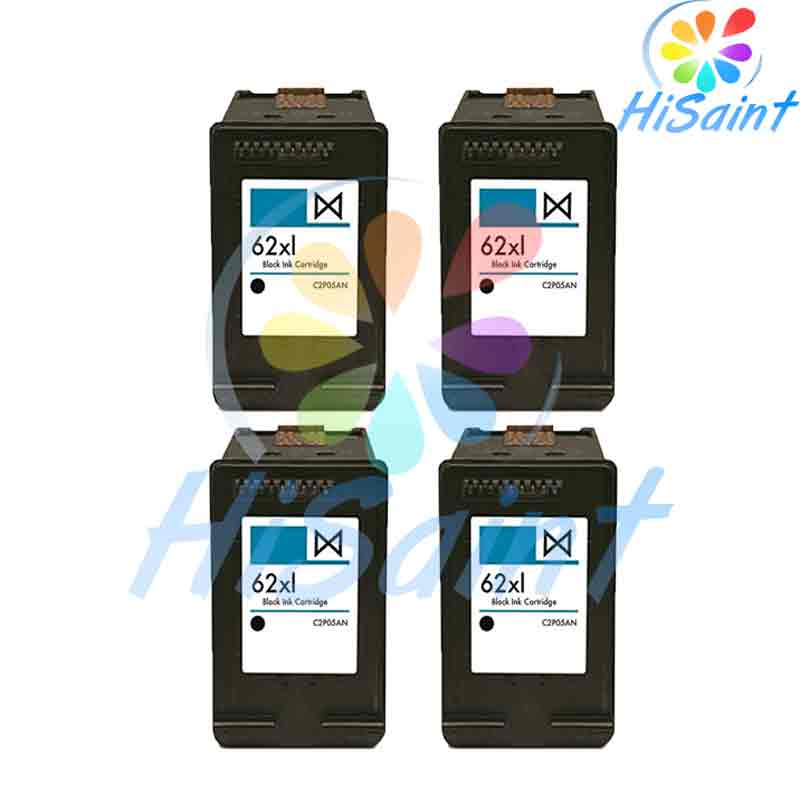 ФОТО 4BK high quality Spread Remanufactured Ink Cartridge Replacements for HP 62XL C2P05AN For HP ENVY5640 For HP 5740 Free Shipping