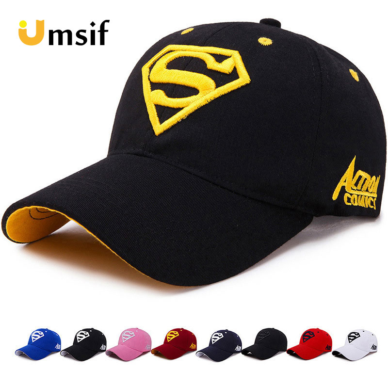 2019 New Summer Letter Superman   Cap   Casual Outdoor   Baseball     Caps   For Men Hats Women Snapback   Caps   For Adult Sun Hat Gorras