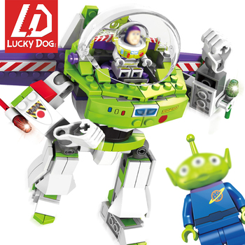 Story Building-Blocks Compatible Major Brands 4 Buzz Lightyear Figures Sets Toy for Children Christmas Gifts