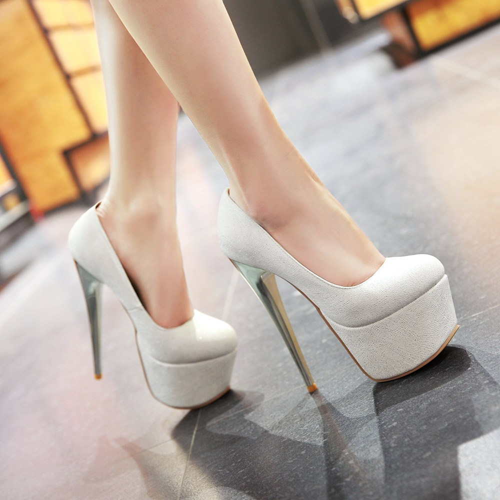 2017 Hot Big And Small Size Sale 30-48 Fashion Sexy Round Toe Women Super Platform  High Heels Ladies Wedding Party Shoes Y-28
