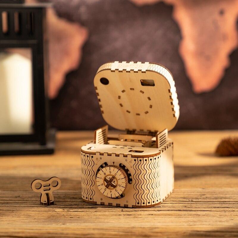 Robotime Nouvelle Arrivée BRICOLAGE Créatif Trésor Boîte En Bois Modèle Kits de Construction Assemblée Jouet Cadeau pour Enfants Adulte LK502