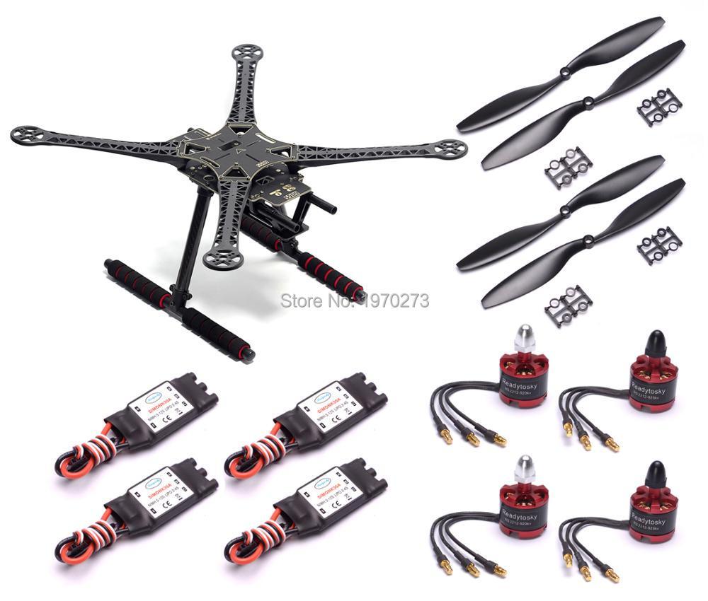 S500 500mm PCB Quadcopter Frame Kit 2212 920KV Brushless Motor 30A Simonk ESC 1045 Propeller