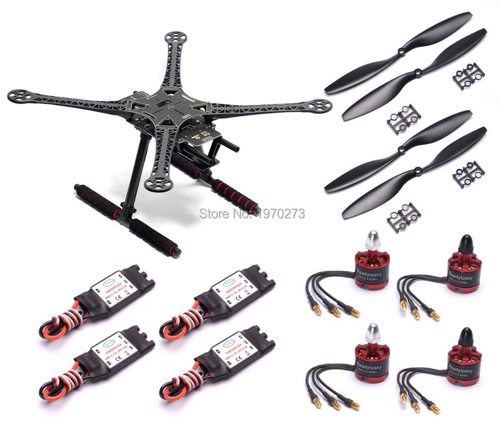 S500 500mm PCB Quadcopter Cadre Kit 2212 920KV Brushless Moteur 30A Simonk ESC 1045 Hélice
