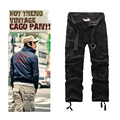 New fashion vintage men pants military style army camouflage cargo trousers free shipping