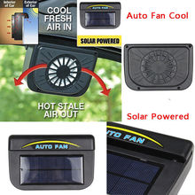 Triclicks Universal ABS Solar Sun Powered Fan Car Window Windshield Auto Air Vent Cooling System Cooler Exhaust Fans