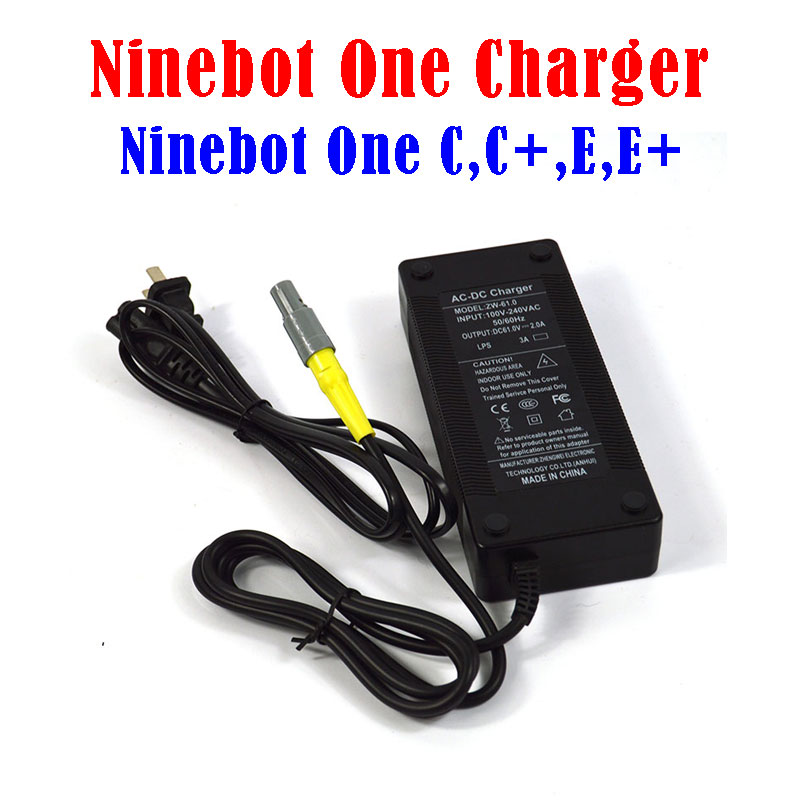 Batterie chargeur pour Ninebot Une C, C +, E, E +, a1 + S2 solo roue scooter Ninebot une hoverboard réparation complices livraison gratuite