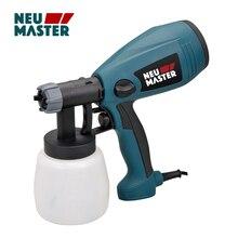 hot deal buy neu master 220v hvlp electric paint sprayer household painting spray gun kit power tools 400w 2.5mm copper nozzle pld3020