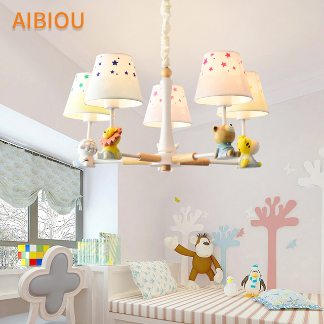 Aibiou cartoon chandelier with fabric lampshade for children cute aibiou cartoon chandelier with fabric lampshade for children cute hanging lights boys room lustre girls suspension aloadofball Choice Image