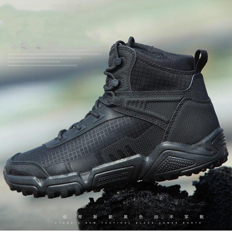 Tactique ultraléger hommes formation 07 bottes de Combat résistant à la guerre en plein air Camping escalade Trekking armée Fans mâle femme chaussures de randonnée