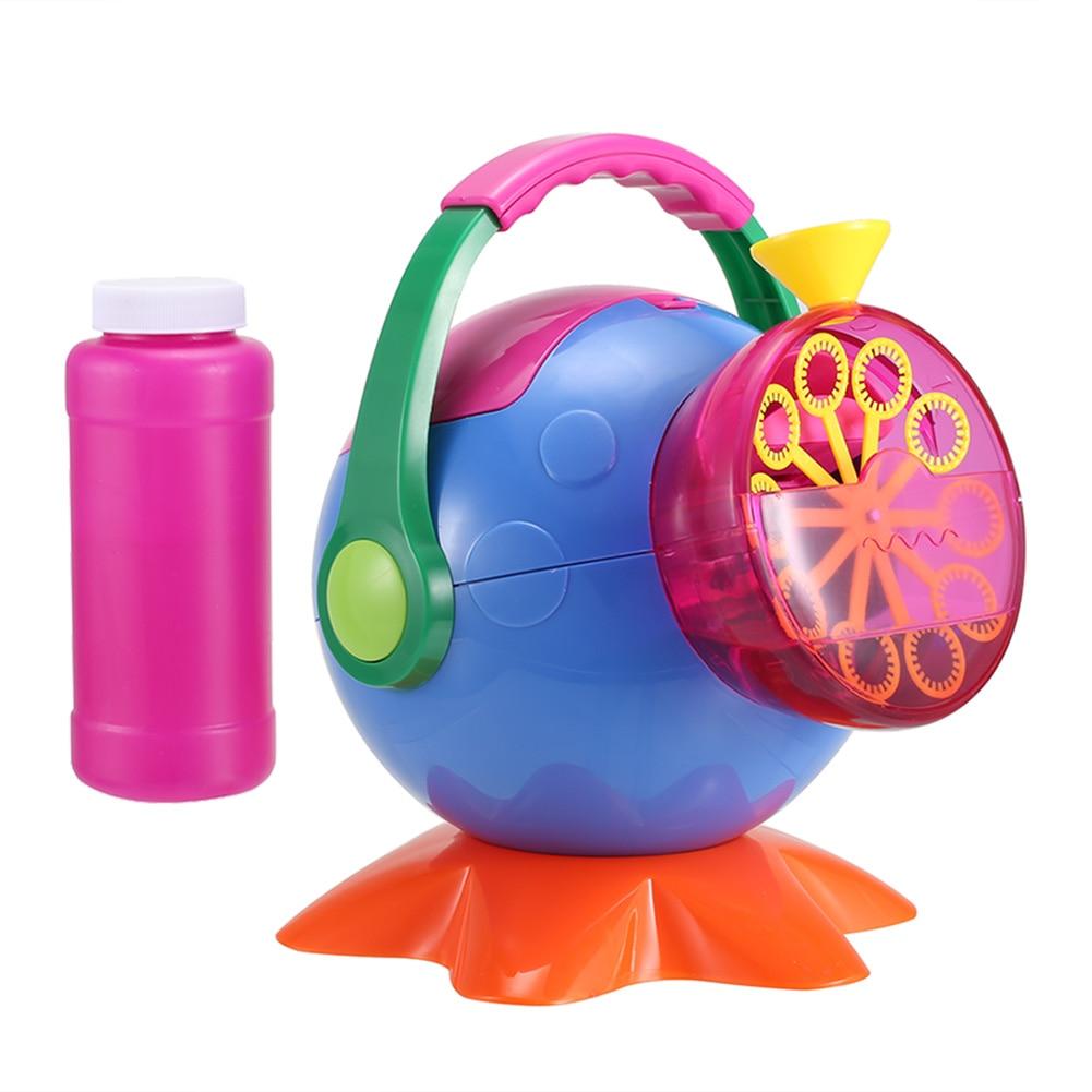 Soap Bubble Machine Outdoor A Plastic Bubbles Blower Toys for Kids S7JN