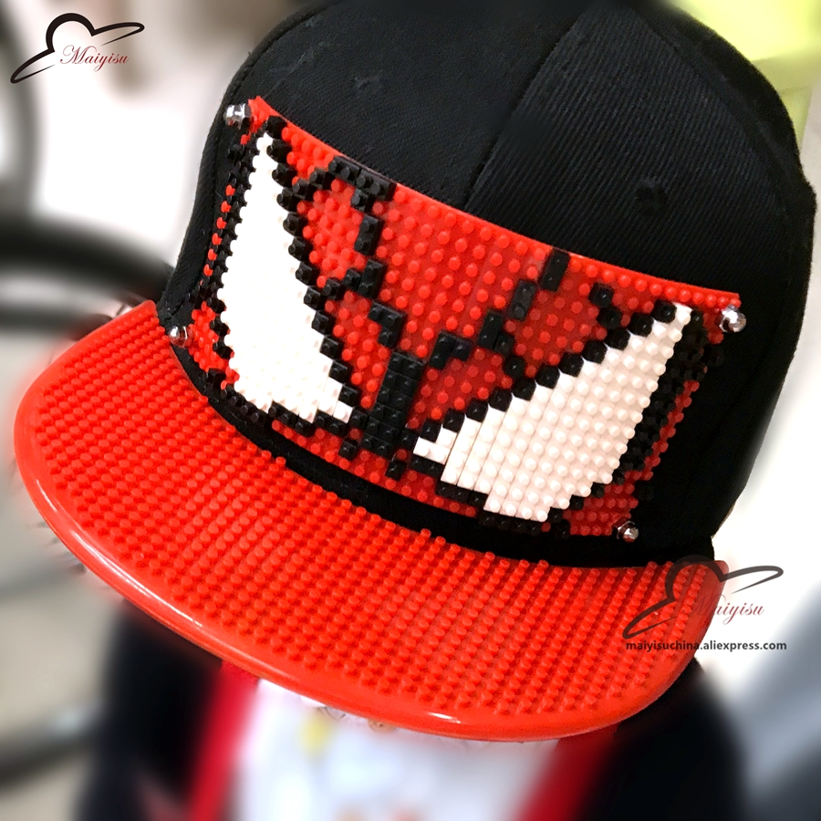 Boy's Hats New Custom Blocks Design Diy Bricks Tmnt Hip Hop Cap Outdoor Cartoon Men Women Fashion Hat Cool Baseball Caps