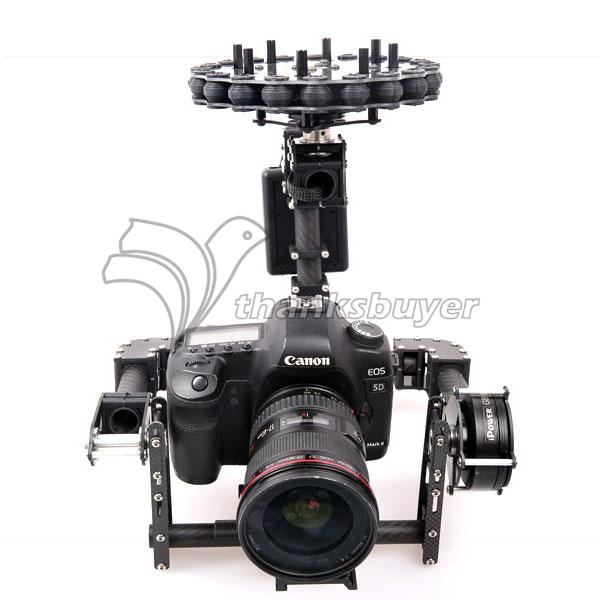 ФОТО g10 3 axis brushless aerial gimbal 3k full carbon fiber with motors for 5d,gh3,gh4 fpv photography