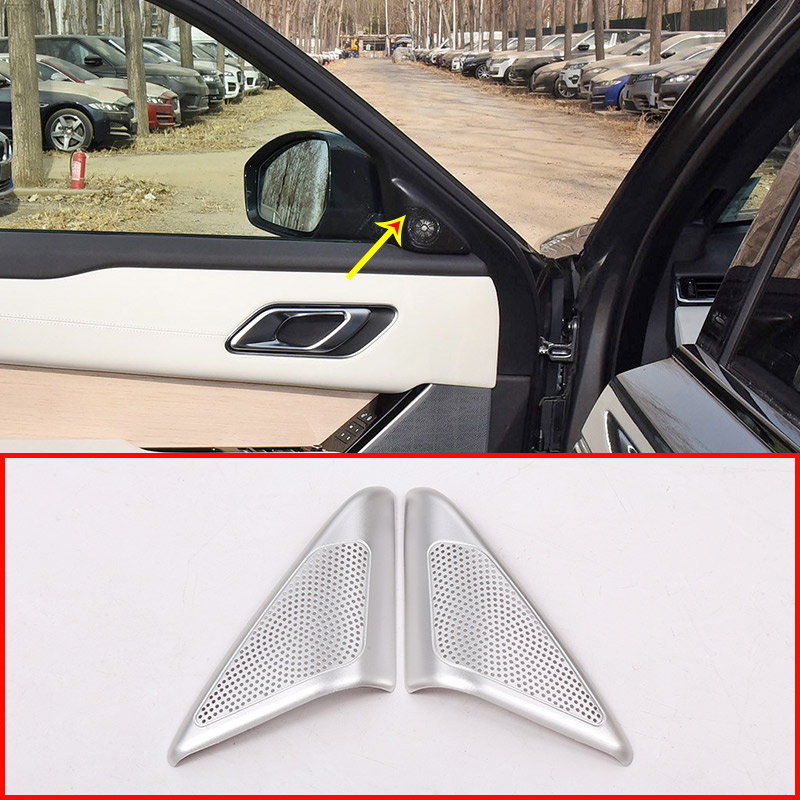 For Land rover Range Rover VELAR 2017 2018 2019 Car Aluminum Alloy Audio <font><b>Speaker</b></font> Tweeters Cover Trim Accessories image