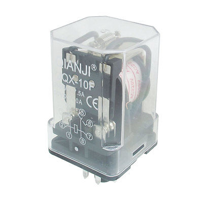 JQX-10F-2Z AC 220V/DC24V Coil General Purpose Relay 8 Pin 3PDT 10A