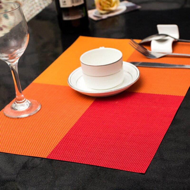 4 quadratische einfarbig esstisch tischset europa stil pvc - Küche, Essen und Bar - Foto 3