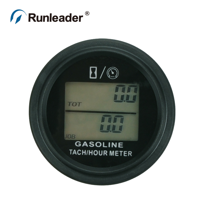 Tractor Hour Meter Gauges : Runleader digital hour meter tachometer hourmeter gauge