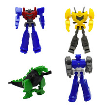 Wholesale 100pcs/lot Mini Diy Assemble Robot Block Toy for Kid Gift