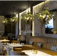Винтаж Ретро люстры, цветок люстры свет ресторан подвесной светильник жизни Обеденная люстра светильники