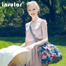 Insular Fashion High Quality Maternity Mummy Handbag Waterproof Baby Stroller Bag Nappy Bags Diaper Bag Mother Shoulder Bag