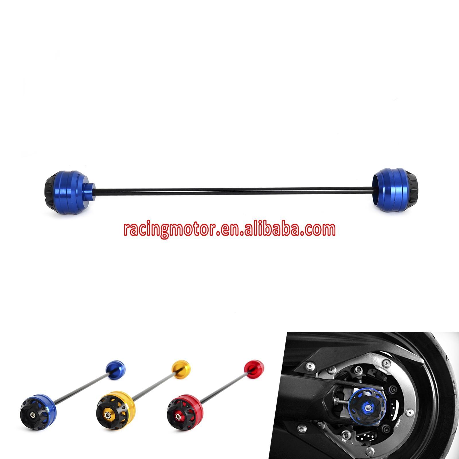 ФОТО Rear CNC Wheel Axle Fork Crash Protector Slider For T-MAX 500 XP500 2008-2011 XP530 2012-2016