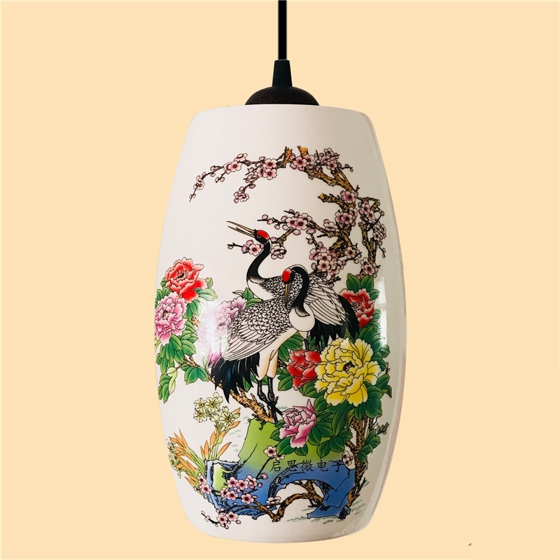 Image 5 - New Chinese Pendant lamp for Kitchen Dining Room Living Room Suspension luminaire Hanging Ceramic Bedroom Chandeliers Fixtures-in Pendant Lights from Lights & Lighting