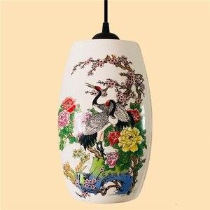 Image 5 - Novo chinês pingente lâmpada para cozinha sala de jantar sala estar suspensão luminária pendurado cerâmica quarto lustres luminárias