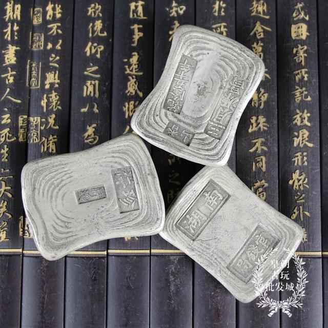 1 Stücke Chinesische Antike Rechteckige Silber Bar Silber Barren