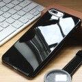 Casos de telefone para apple iphone 7 brilhante de piano caso preto macio tampa traseira para o iphone 7 plus caso tampa do telefone ultra fino doces cor
