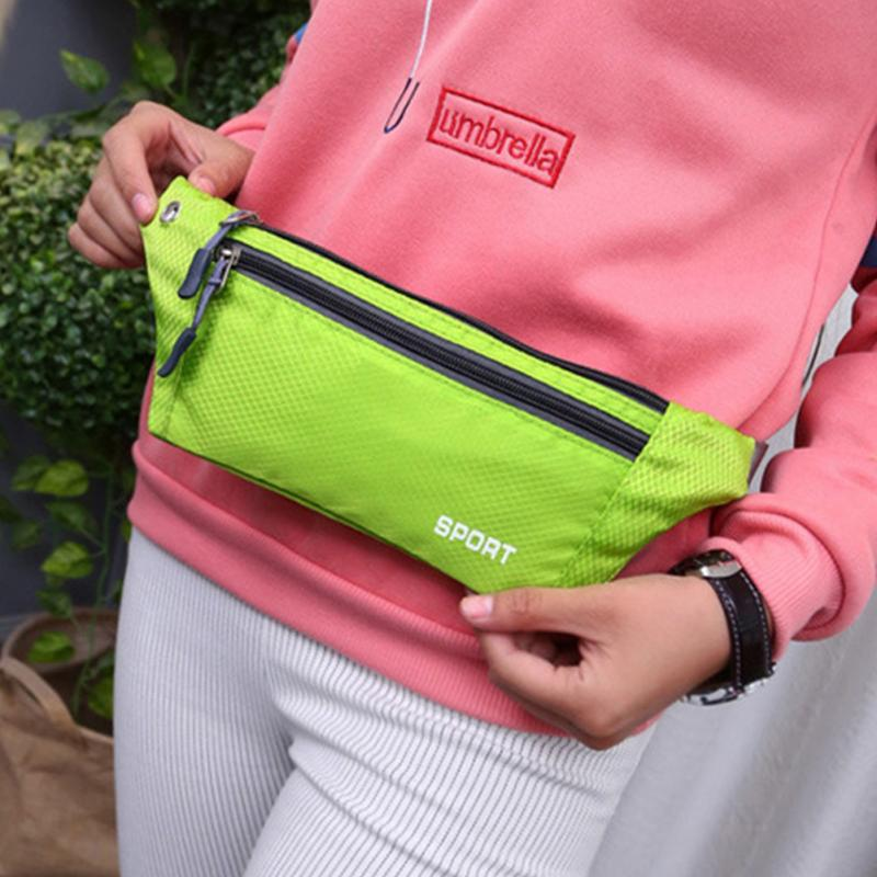 Professional Running Bag Waterproof Sports Chest Shoulder Bags Belt Bum Pouch Unisex Waistbag Hiking Zip Bag Fanny Pack 8 Colors