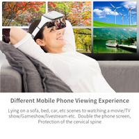 Screen Magnification Phone Holder Headset Movie AR Viewer No Dizziness Professional Durable Game Virtual Reality 3D Glasses HD