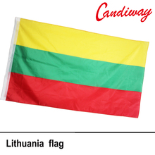90 x 150cm    Lithuania National Flag  Hanging Flag Polyester Lithuania Flag Outdoor Indoor  Big Flag      NN088