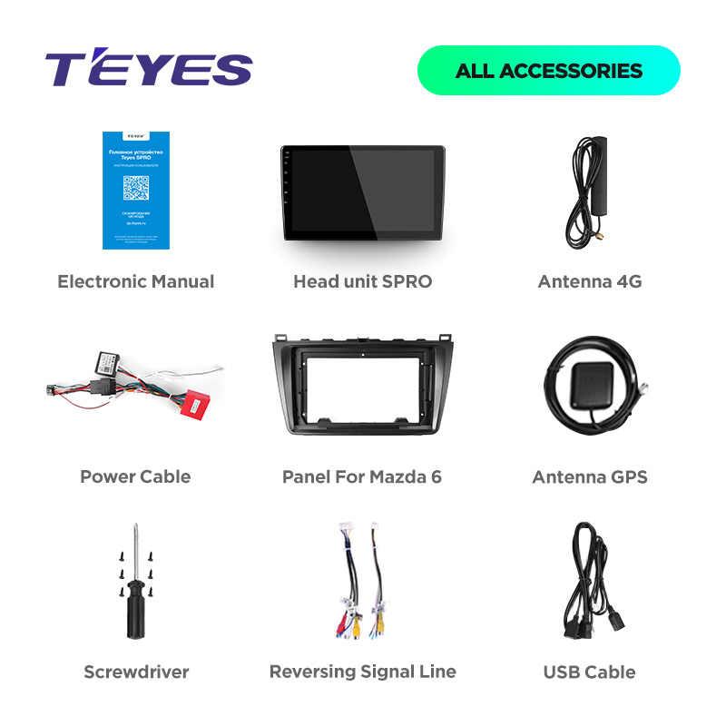 TEYES SPRO 車ラジオマルチメディアなし 2 din android ビデオプレーヤーナビゲーションの Gps マツダ 6 II 超 2007 2008 2009 2010 2011 2012