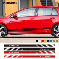 1 Pair Customizable Car Styling Door Sticker Waist Car Stickers Decal For Seat Leon Cupra Ibiza Cupra Fr Exterior Accessories