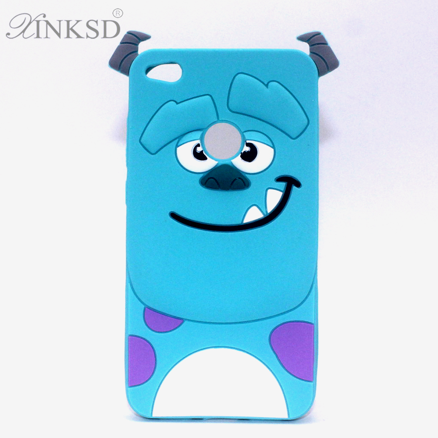 Hot 3D For Fundas huawei p8 lite 2017 IceCream Sulley Soft Silicon Cover Phone Case For Huawei P8lite 2017 Rubber Back Para 5.2