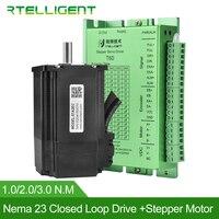 Rtelligent Factory Outlet Nema 23 Stepper Motor with Nema 23 24 Closed Loop Stepper Motor Driver Easy Servo Driver Stepper Kit