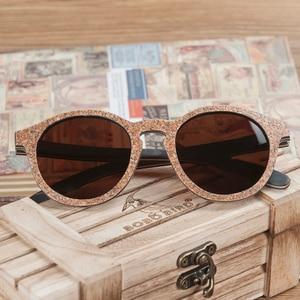 Image 4 - ボボ鳥男性女性サングラス木製猫目サングラス女性眼鏡高級手作り竹木箱
