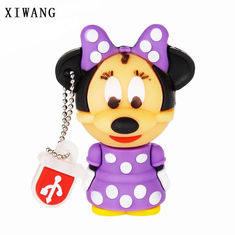USB Flash Drive 128gb Mickey And Minnie Mouse USB Disk 4GB 8GB Pendrive 16GB Pen Drive 32GB 64GB Cute Wedding Gift Free Shipping