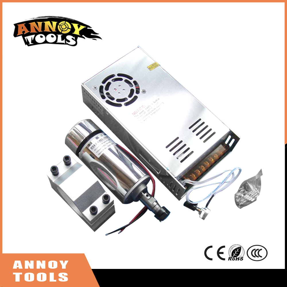 ANNOYTOOLS HIGH QUALITY 300W DC Air Cooled Spindle Motor + 52 mm Clamp (contain four screws) + Speed control Power Supply 10 50v 100a 5000w reversible dc motor speed controller pwm control soft start high quality