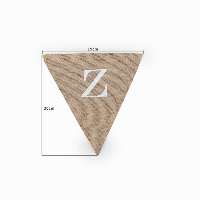 Personalize Party Flag Letter A-Z No.0-9 Burlap Bunting Banner Flags