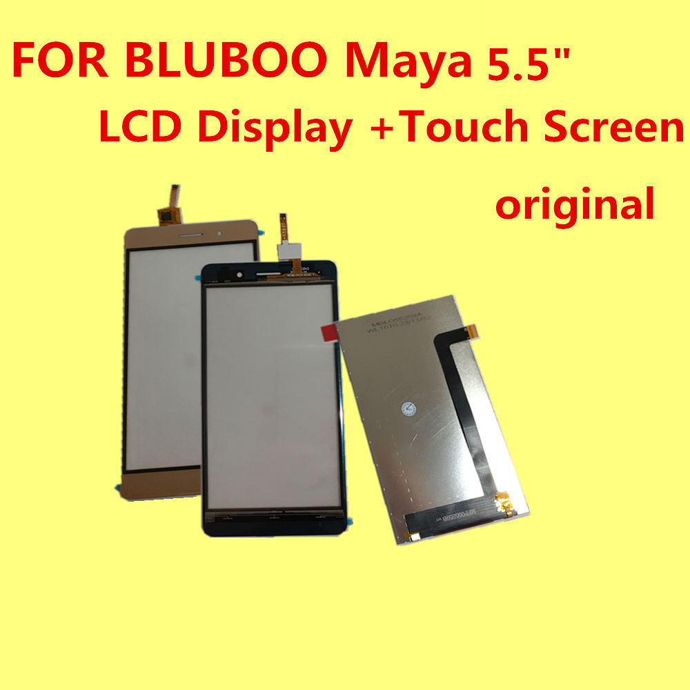 FOR BLUBOO Maya LCD Display +Touch Screen 100% Original Digitizer Assembly Replacement Accessories For Phone 5.5 MTK6580A