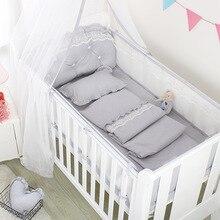 5 шт., летняя дышащая детская кровать, сетчатый бампер, детская кровать, забор, Скандинавская детская кроватка, постельное белье, украшение для спальни, товары для детской комнаты